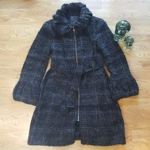 Zara Woman Belted Wool Coat Size M